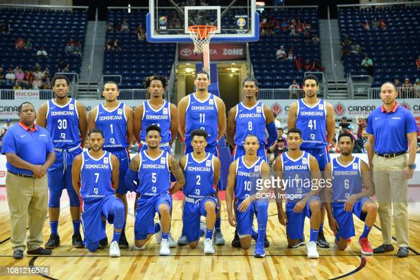 Dominican Republic national team seen during the Canada national team vs Dominican Republic national team in the FIBA Basketball World Cup 2019...