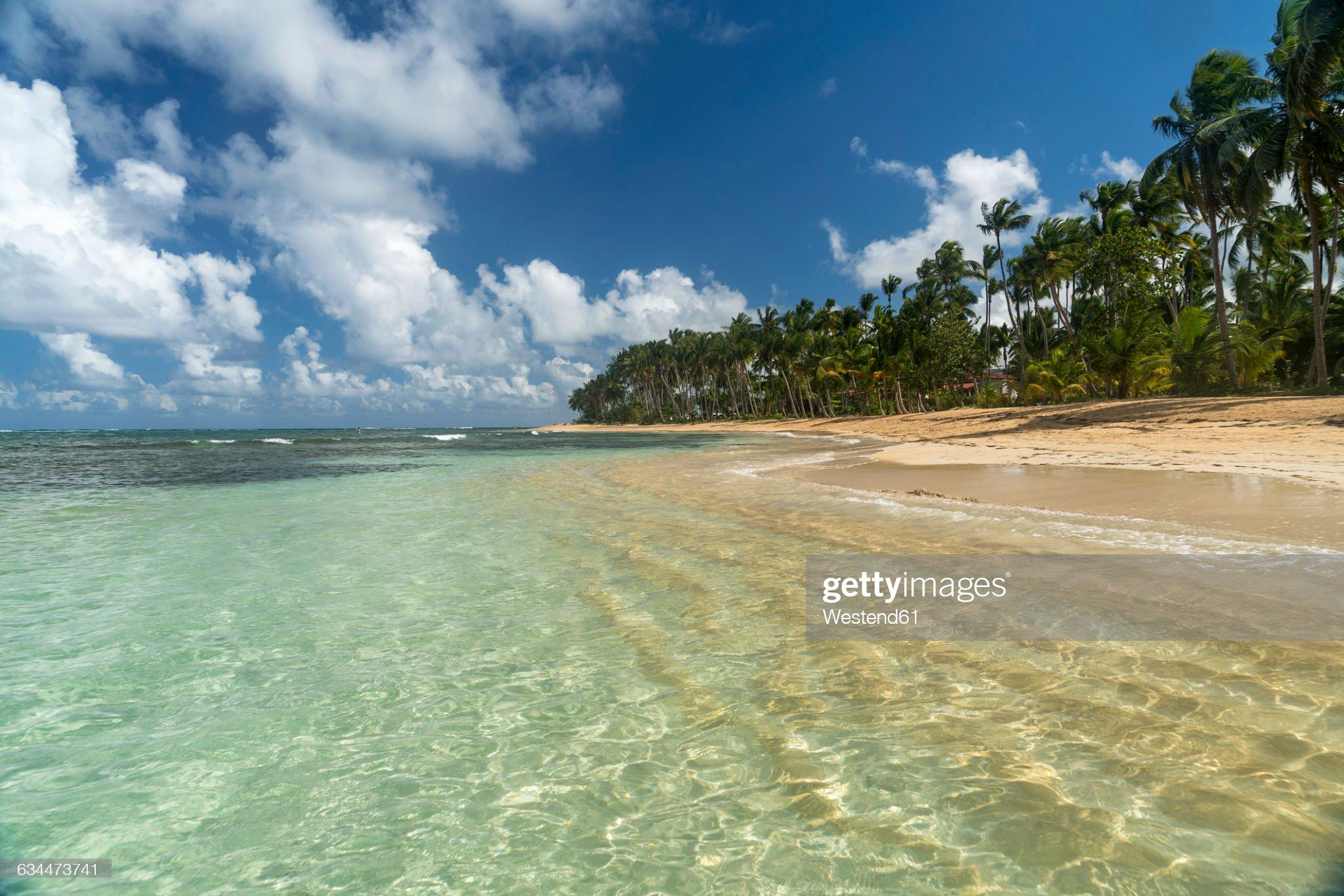 Dominican Republic, Peninsula Samana, Beach of Las Terrenas : Foto de stock