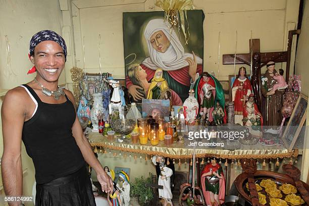 Dominican Republic Santo Domingo Ciudad Colonia Mercado Modela transvestite