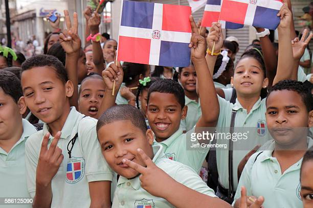 Dominican Republic Santo Domingo Ciudad Colonial Calle el Conde children