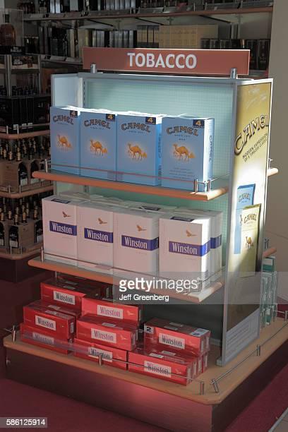 Dominican Republic Santo Domingo Las Americas International Airport dutyfree store selling cigarettes