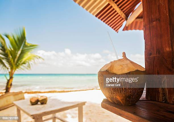 Dominican Republic, Tropical cocktail on tropical beach