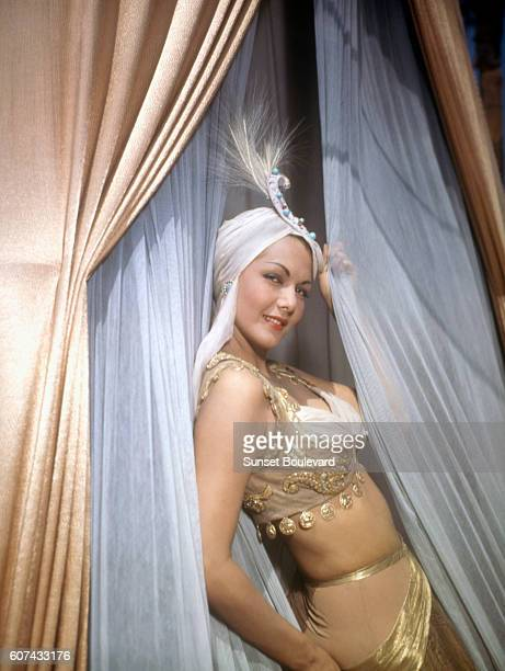 Dominican Republicborn Maria Montez on the set of Arabian Nights directed by John Rawlins