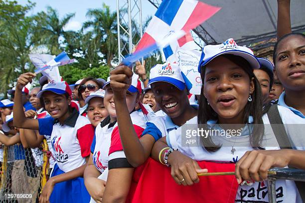 Dominican students attend the national Flag Day ceremony in Santo Domingo on February 24 2012 AFP PHOTO/ERIKA SANTELICES