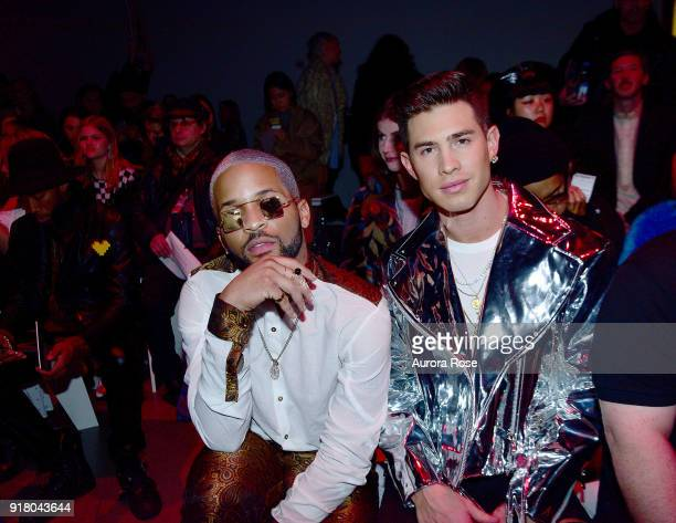 Dominici and Allan Kent sit front row at The Blonds Runway show during New York Fashion Week at Spring Studios on February 13 2018 in New York City