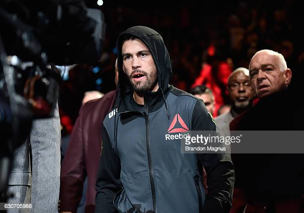 Dominick Cruz walks to the Octagon to face Cody Garbrandt during the UFC 207 event at TMobile Arena on December 30 2016 in Las Vegas Nevada