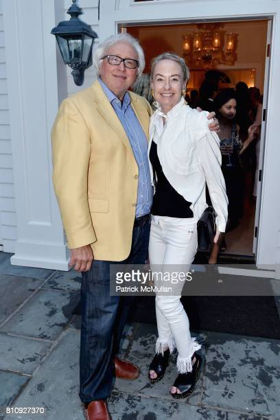 Dominick D'Alleva and Robin Cofer attend Katrina and Don Peebles Host NY Mission Society Summer Cocktails at Private Residence on July 7 2017 in...