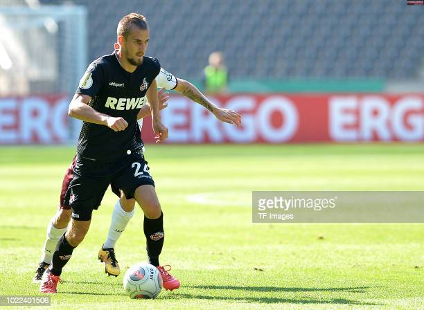 Dominick Drexler of FC Koeln controls the ball during the DFB Cup first round match between BFC Dynamo and 1 FC Koeln at Olympiastadion on August 19...