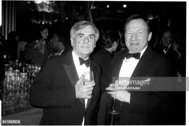 Dominick Dunne and Anthony Haden Guest at the Vanity Fair party at the Diamond Horseshoe at the Paramount Hotel February 29 1988