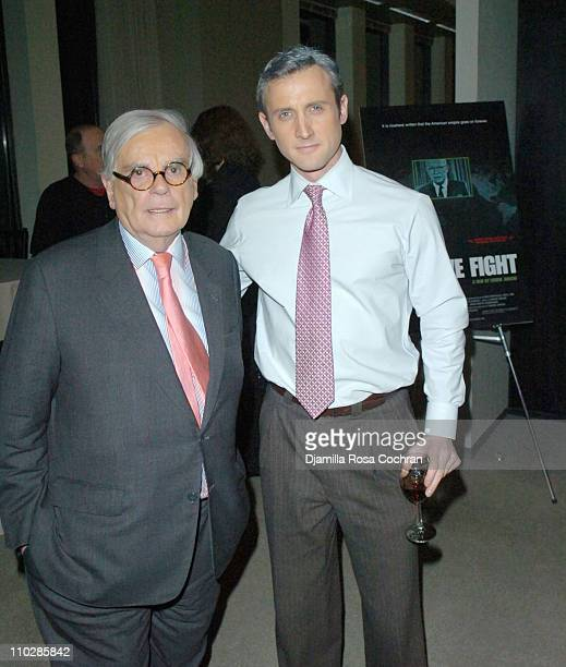 Dominick Dunne and Dan Abrams during Why We Fight New York City Screening January 17 2006 at Sony Screening Room in New York City New York United...