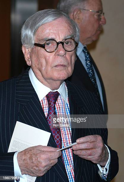Dominick Dunne during 'Audrey Hepburn: The Beauty of Compassion', A Charity Auction To Benefit UNICEF at Sotheby's in New York City, New York, United...