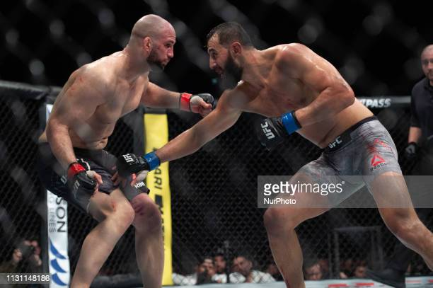 Dominick Reyes beats Volkan Oezdemir by decision during UFC Fight Night 147 at the London O2 Arena Greenwich on Saturday 16th March 2019
