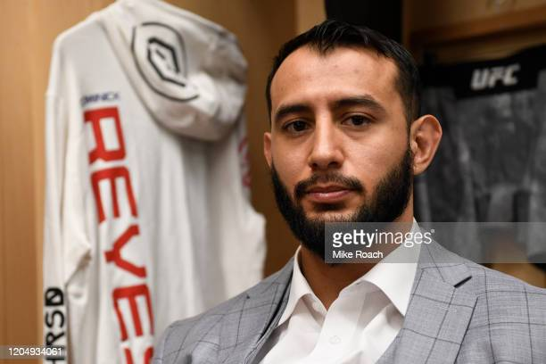 Dominick Reyes waits backstage during the UFC 247 event at Toyota Center on February 08 2020 in Houston Texas