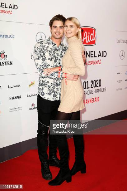Dominik Bruntner and Jolina Fust during the Channel Aid Live in concert at Elbphilharmonie on January 4 2020 in Hamburg Germany