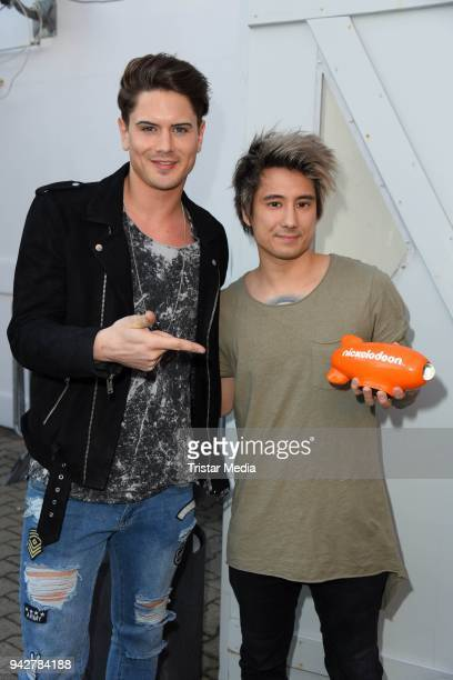 Dominik Bruntner Julien Bam during the Nickelodeon Kids Choice Awards on April 6 2018 in Rust Germany