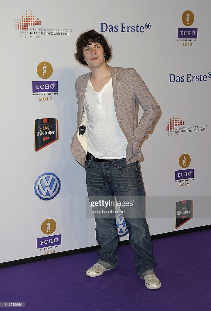 Dominik Buechele arrives for the Echo Awards 2012 at Palais am Funkturm on March 22, 2012 in Berlin, Germany.