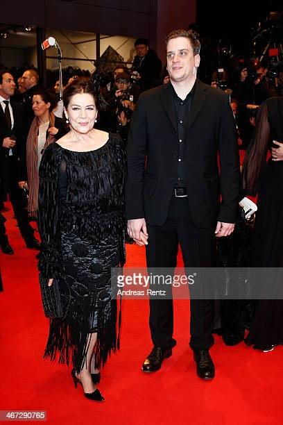 Dominik Elsner and Hannelore Elsner attend 'The Grand Budapest Hotel' Premiere and opening ceremony during the 64th Berlinale International Film...