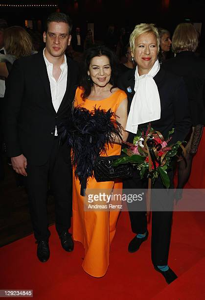 Dominik Elsner Hannelore Elsner and Doris Doerrie attend the 22nd Hesse Movie Award at Alte Oper on October 14 2011 in Frankfurt am Main Germany