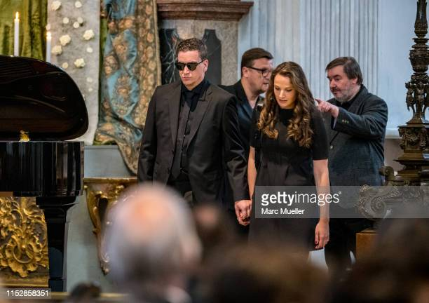 Dominik Elsner is seen during the funeral service for German actress Hannelore Elsner on May 31 2019 in Munich Germany The actress died at age 76...