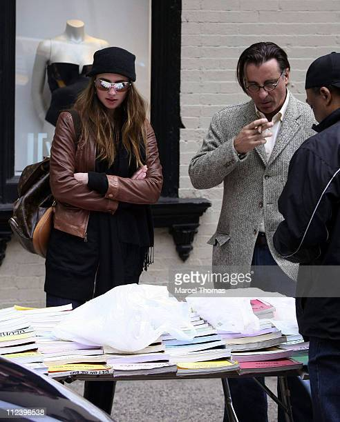 Dominik Garcia and Andy Garcia during Andy Garcia Sighting in SOHO April 29 2007 at SOHO in New York City New York United States