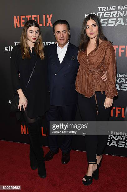 Dominik GarciaLorido Andy Garcia and Alessandra Garcia Lorido attend 'True Memoirs Of An International Assassin' at AMC Lincoln Square Theater on...