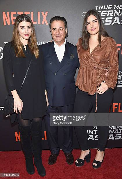 Dominik GarciaLorido Andy Garcia and Alessandra Garcia Lorido attend the 'True Memoirs Of An International Assassin' New York premiere at AMC Lincoln...