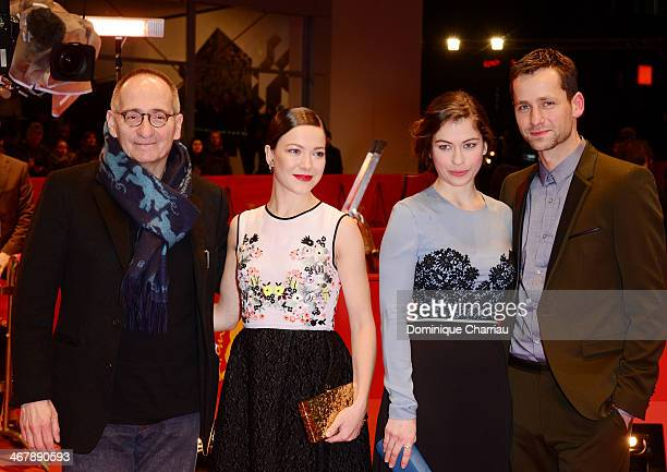 Dominik Graf Hannah Herzsprung Henriette Confurius and Florian Stetter attend 'Beloved Sisters' premiere during 64th Berlinale International Film...