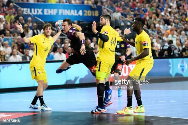 Dominik Klein of Nantes during the Final Four EHF Champions League match between Nantes and Paris Saint Germain at Lanxess Arena on May 26 2018 in...