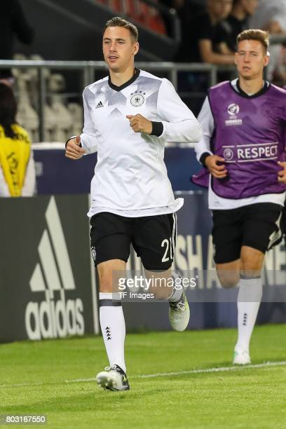 Dominik Kohr of Germany in action during the UEFA European Under21 Championship Group C match between Germany and Denmark at Krakow Stadium on June...