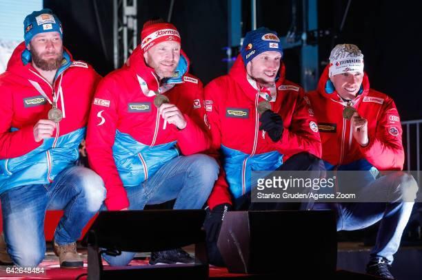 Dominik Landertinger of Austria wins the bronze medal Simon Eder of Austria wins the bronze medal Julian Eberhard of Austria wins the bronze medal...
