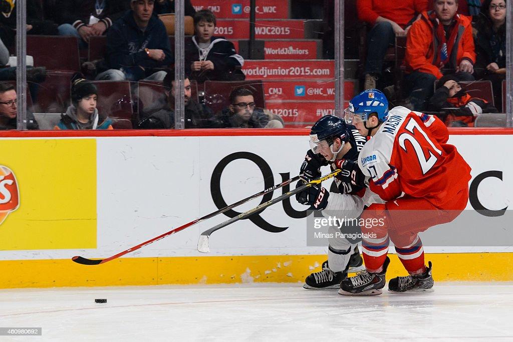 2015 IIHF World Junior Championship - Quarterfinal - Czech Republic v Slovakia : News Photo