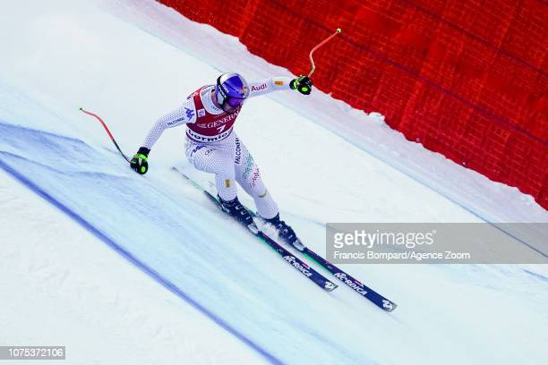 Dominik Paris of Italy competes during the Audi FIS Alpine Ski World Cup Men's Downhill on December 28 2018 in Bormio Italy