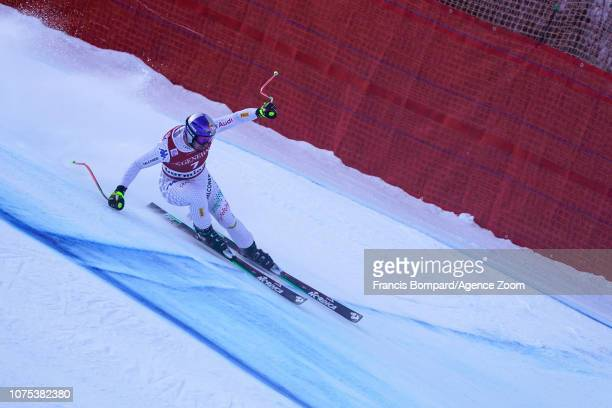 Dominik Paris of Italy competes during the Audi FIS Alpine Ski World Cup Men's Downhill on December 28, 2018 in Bormio Italy.