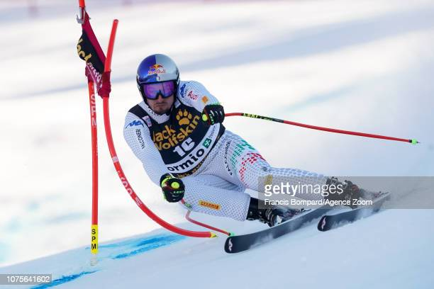 Dominik Paris of Italy competes during the Audi FIS Alpine Ski World Cup Men's Super G on December 29 2018 in Bormio Italy