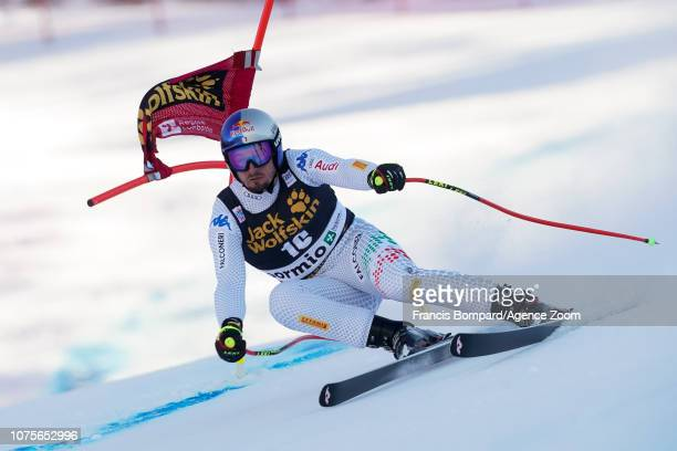 Dominik Paris of Italy competes during the Audi FIS Alpine Ski World Cup Men's Super G on December 29, 2018 in Bormio Italy.