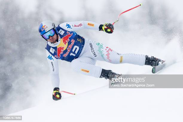 Dominik Paris of Italy competes during the Audi FIS Alpine Ski World Cup Men's Downhill on January 25 2019 in Kitzbuehel Austria