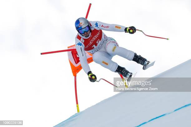 Dominik Paris of Italy competes during the Audi FIS Alpine Ski World Cup Men's Super G on January 27 2019 in Kitzbuehel Austria
