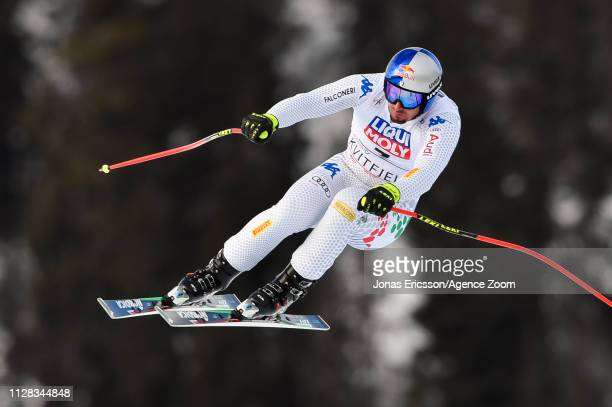 Dominik Paris of Italy competes during the Audi FIS Alpine Ski World Cup Men's Downhill on March 2 2019 in Kvitfjell Norway