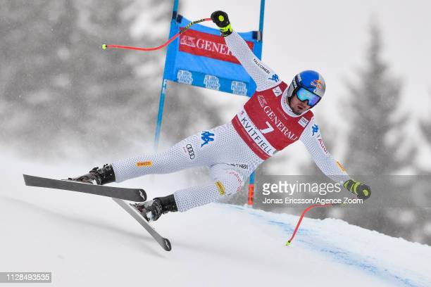 Dominik Paris of Italy competes during the Audi FIS Alpine Ski World Cup Men's Super G on March 3 2019 in Kvitjell Norway