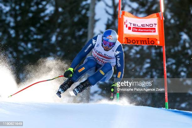 Dominik Paris of Italy competes during the Audi FIS Alpine Ski World Cup Men's Downhill on December 28 2019 in Bormio Italy