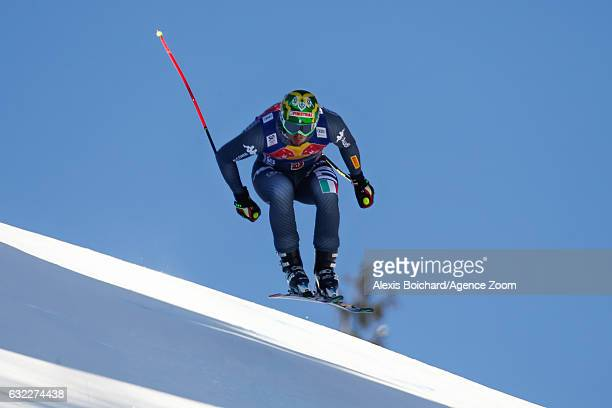 Dominik Paris of Italy competes during the Audi FIS Alpine Ski World Cup Men's Downhill on January 21 2017 in Kitzbuehel Austria