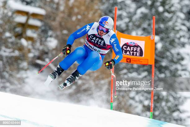 Dominik Paris of Italy competes during the Audi FIS Alpine Ski World Cup Men's Downhill on December 28 2017 in Bormio Italy