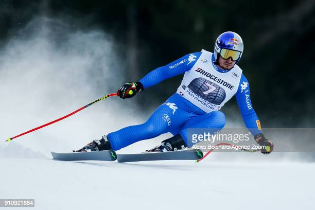 Dominik Paris of Italy competes during the Audi FIS Alpine Ski World Cup Men's Downhill on January 27 2018 in GarmischPartenkirchen Germany