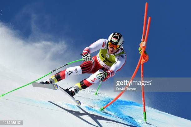 Dominik Paris of Italy during Men's Downhill training on day two of the 2019 Alpine Skiing World Cup Finals on March 12 2019 in Andorra la Vella...