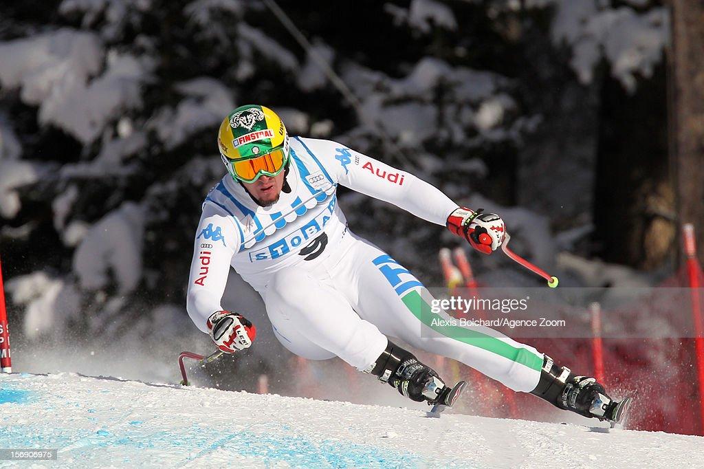 Dominik Paris of Italy during the Audi FIS Alpine Ski World Cup Men's Downhill on November 24, 2012 in Lake Louise, Alberta, Canada.