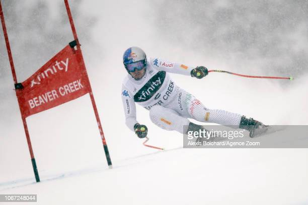 Dominik Paris of Italy in action during the Audi FIS Alpine Ski World Cup Men's Super G on December 1 2018 in Beaver Creek USA