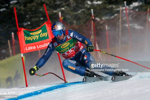 Dominik Paris of Italy in action during the Audi FIS Alpine Ski World Cup Men's Super G on December 1 2019 in Lake Louise Canada