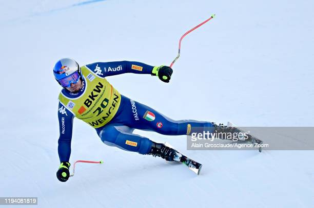 Dominik Paris of Italy in action during the Audi FIS Alpine Ski World Cup Men's Alpine Combined on January 17 2020 in Wengen Switzerland