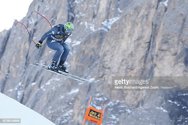 Dominik Paris of Italy in action during the Audi FIS Alpine Ski World Cup Men's Downhill Training on December 14 2016 in Val Gardena Italy