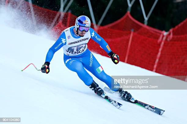 Dominik Paris of Italy in action during the Audi FIS Alpine Ski World Cup Men's Combined on January 12 2018 in Wengen Switzerland